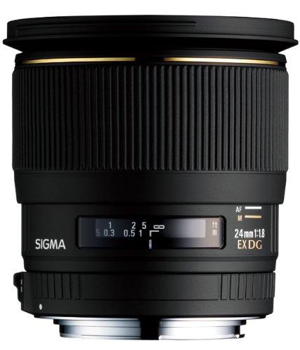 Sigma 24mm f/1.8 EX DG Aspherical Macro Large Aperture Wide Angle Lens for Nikon SLR Cameras