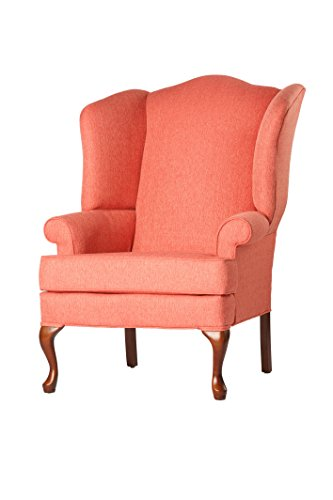 SOURCEONE.ORG Source One A320-700008 Kinnara Wing Back Upholstered Chair, Coral