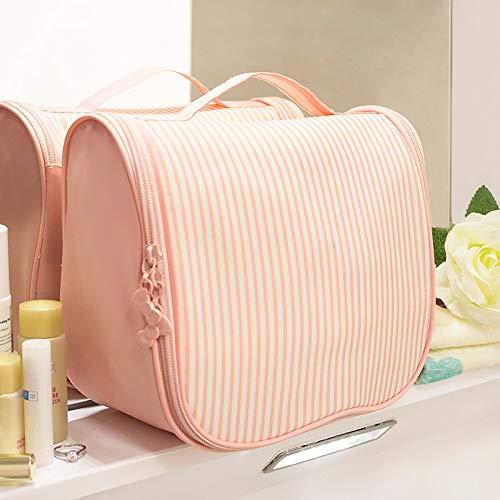 (Organizer - Women Fashion Cosmetic Bag Big Travel Striped Oxford Cloth Makeup Storage Box Toiletry Organizer - Travel Drawers Organizer Tower Cabinet Case Storage Cart Toiletry)
