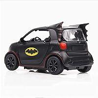 1:36 Scale Black Diecast Alloy W// Light Batman Smart Fortwo Car Model Collection