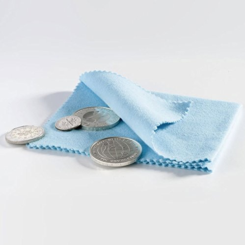 (1) Blue Jewelry, Watch and Coin Polishing Cloth for Silver Gold or Other Metals from Lighthouse