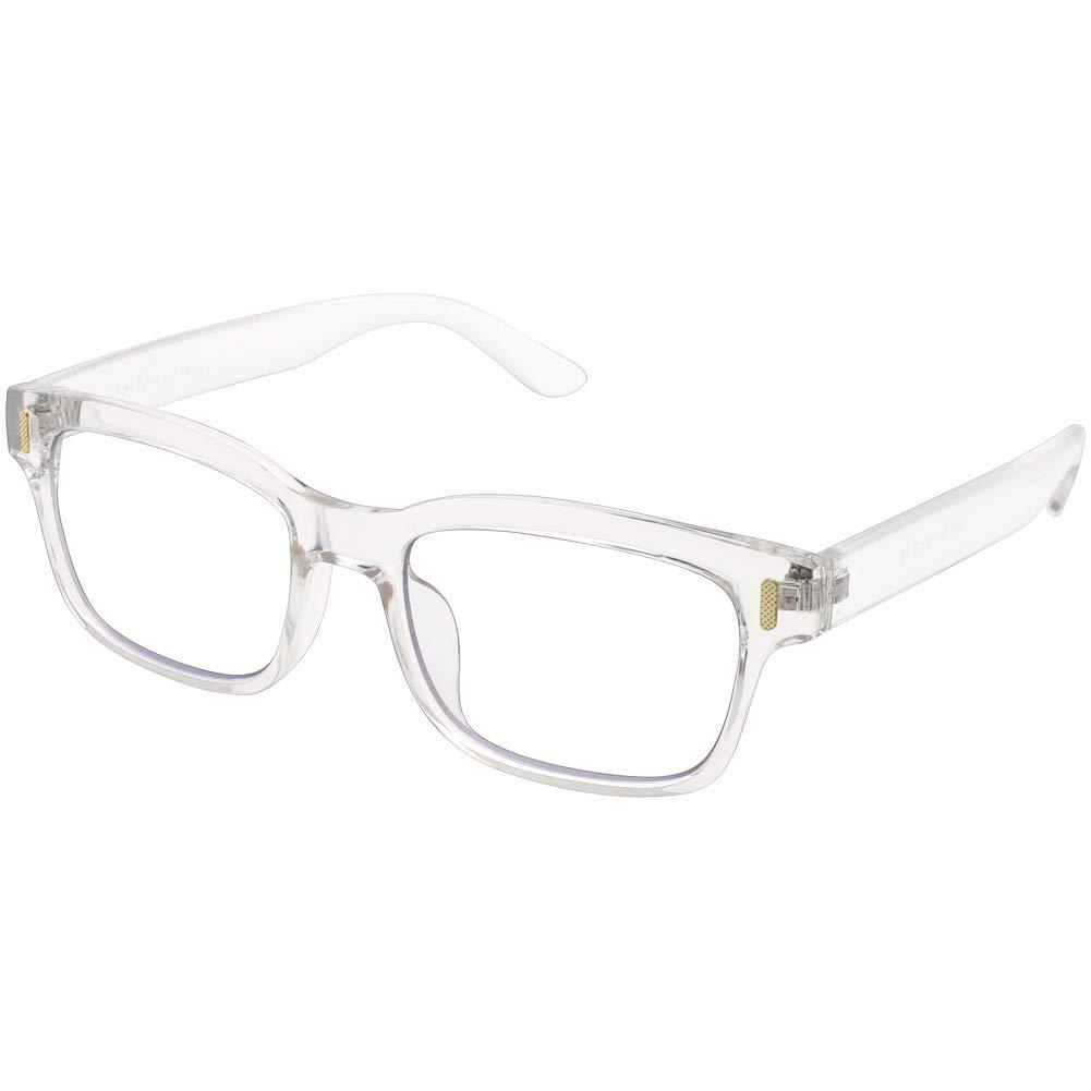 01fe063656e Amazon.com  Cyxus Blue Light Blocking Computer Glasses for Anti Eye Strain  UV Transparent Lens Black Frame Reading Glass Unisex (Men Women) (8084T34