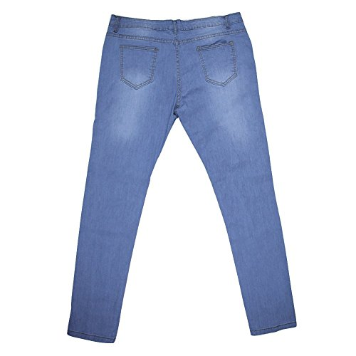 Jardin Vintage Jeans Femmes Punk Printemps Trous Collants Crayon Slim Pantalon Rtro Rv rqwOXI6xr