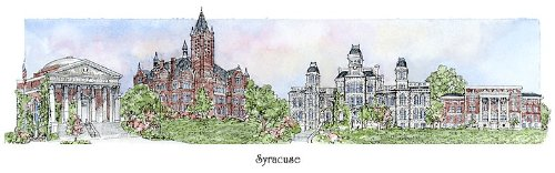 Syracuse University - Collegiate Sculptured Ornament by Sculptured Watercolor Ornaments