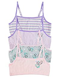 Fun Mermaid Girls Training Bras - Crop Tops 4-Pack Size S (7/8)