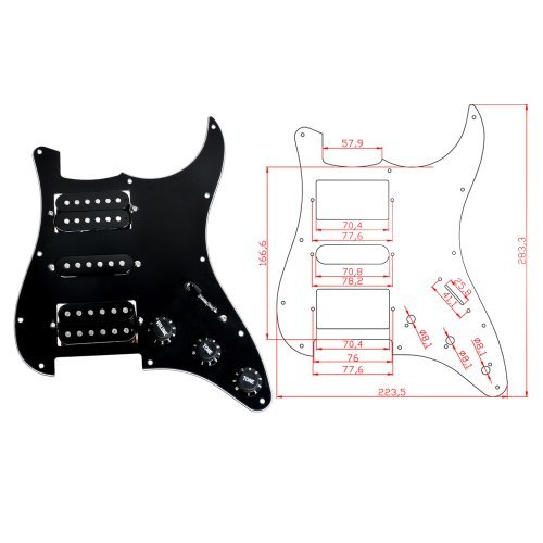 1pc-3-ply-11-Holes-HSH-Black-Wired-Plate-Loaded-Pickguard-for-Fender-Strat-Guitar-Replacement