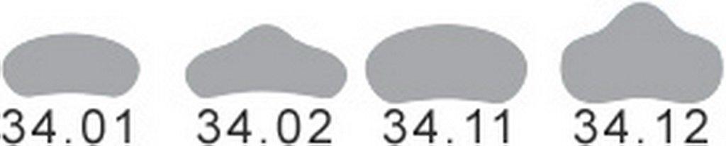 150 PCS Dental small transparent sectional contoured matrices matrix