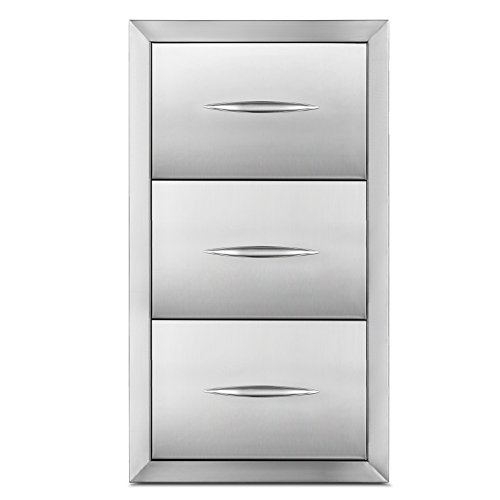 Stainless Drawers - Happybuy Outdoor kitchen drawer 18