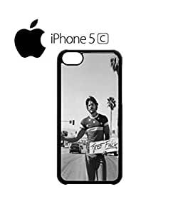 LJF phone case Free F*ck Hitchhiking Sexy Boy Cell Phone Case Cover iphone 5/5s White