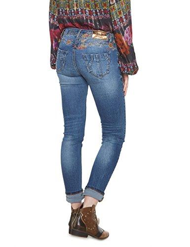 Mujer Denim refriposas Vaqueros Jeans 5053 Slim Desigual Vaquero para BAq4wC47