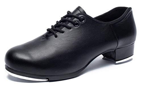 Joocare Men's Oxford Lace up Jazz Tap Dance Shoes (10 D(M) US, -
