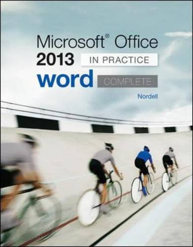 Microsoft Office Word 2013 Complete: In Practice (CIT)