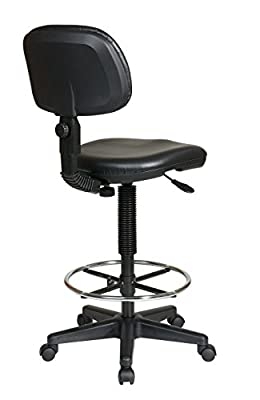 Office Star Work Smart Sculptured Seat and Back Vinyl Drafting Chair
