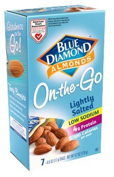 Blue Diamond Lightly Salted Almonds 100 Calorie Bags (Case of 6)