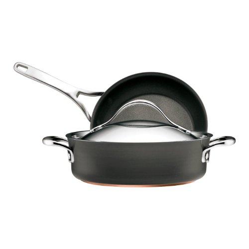 Anolon Nouvelle Copper Hard Anodized Non-stick 3-Piece Pan (Copper Sauteuse)