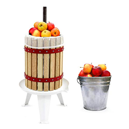 Fruit and Wine Press 4.75 Gallon Cider Apple Grape Crusher Juice Maker Tool Wood by Eelpitha (Image #3)