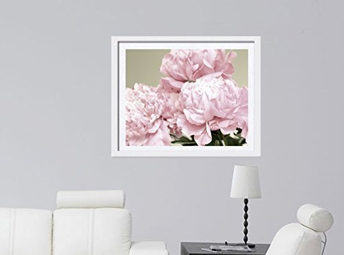 Pink Peony Wall Decor, Fine Art Flower Photography Print, Pale Pink Shabby Chic Wall Decor, Floral Art Print 8x10, 11x14, 12x16, 16x20, 18x24 French Style Cottage Art
