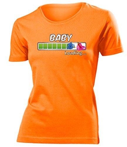 Comedy - Baby Loading - Geburt - Cooles Fun mujer camiseta Tamaño S to XXL varios colores Naranja