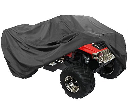 LotFancy All Weather ATV Cover, Durable Universal Waterproof Wind-Proof UV Protection (L 86x47x39 inches)