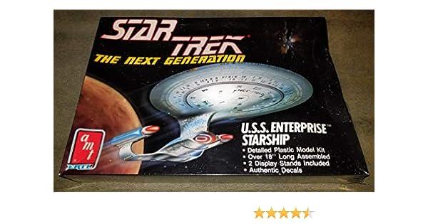 The Next Generation Star Trek VG+//New U.S.S AMT Ertl Enterprise Starship SW