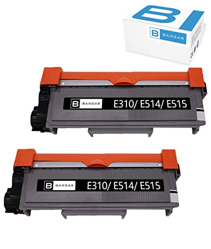 593 Label Cartridge - Bandar 2 Pack E310 E514 E515 Toner Cartridge Compatible 593-BBKD P7RMX High Yield Black for DeLL E310dw E514dw E515dn E515dw Printer (2 PK Black)