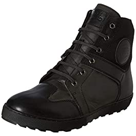 Royal Enfield Men's RLCSHOL00038 Black Leather Outdoor Boots-9 Kids UK (SHOAW1904)
