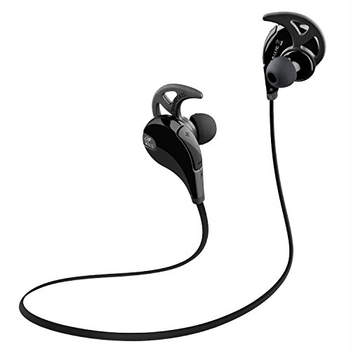 SoundPEATS QY7 Bluetooth  4.1 Wireless 6 Hours Play-time Noise Cancelling Sport In-Ear Stereo Earphones with Mic (Balck)