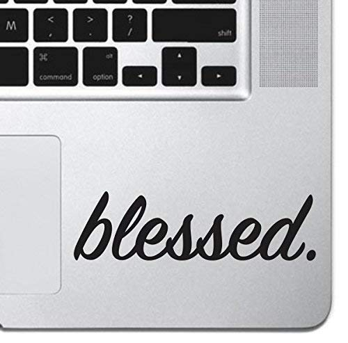 Blessed Inspirational Macbook Sticker Decal MacBook Pro Decal Air 13 15 17 Keyboard Mousepad Trackpad Laptop Inspirational Sticker iPad Sticker Religious Sticker