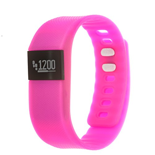 Zunammy Automatic Plastic and Rubber Fitness Watch, Color:Pink (Model: NWTR021PK)