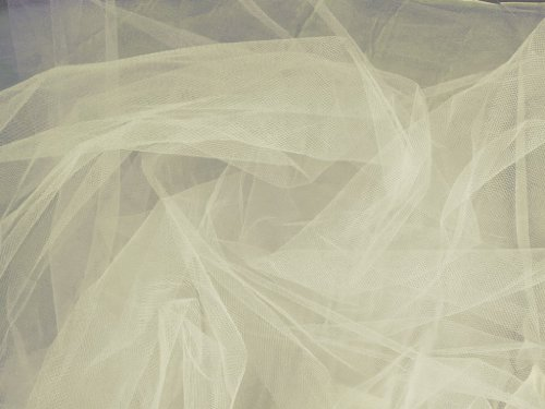 Tulle Ivory 108 Inch Wide Fabric By the Yard (F.E.