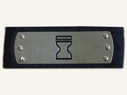 NARUTO-ナルト- 砂忍 額当て コスプレ道具 コスプレ小物 ブラック