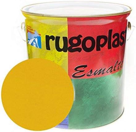 Esmalte sintético de alta calidad ideal para pintar hierros, rejas, portones, puertas, ventanas, madera... Brillante / Satinado / Mate / Forja / Aluminio Plata / Metalizado Varios Colores (4L, Amarill