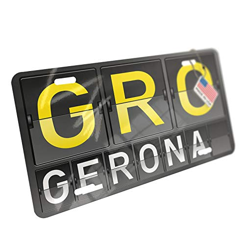 NEONBLOND GRO Airport Code for Gerona Aluminum License Plate