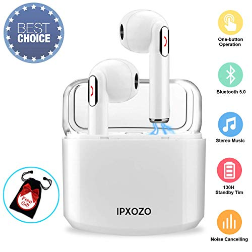 Wireless Earbuds,Bluetooth Earbuds Stereo Wireless Headphones Mini Wireless Earbuds with Microphone with Charging Case in Ear Earphones Sports Earpieces Compatible Samsung Android Phones