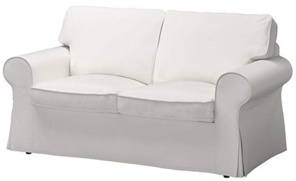 The Dense Cotton Ektorp Loveseat Cover Replacement Is Custom Made For Ikea Ektorp Loveseat Sofa Slipcover (Cotton Pure White)