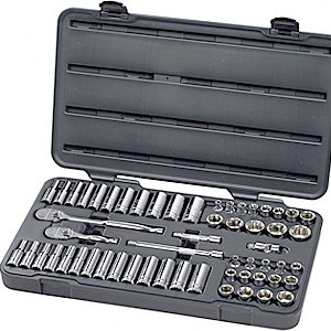 GearWrench 80550 57 Piece 3/8-Inch Drive 6 Point Socket Set from Apex Tool Group