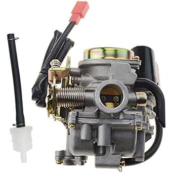 Amazon com: 50cc Scooter Carburetor GY6 Four Stroke with Jet