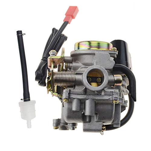 (GOOFIT PD18 18mm Carburetor for 4 Stroke GY6 49cc 50cc Chinese Scooter 139QMB Moped for Taotao Kymco Scooter Jonway Baja Jmstar Lance NST Peace Banzer Barton Zipp Romet)