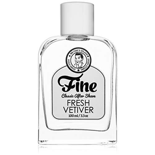 Mr Fine's Fresh Vetiver Mens Aftershave -A Splash Of Classic Barbershop Aftershave for Modern Men - The Wet Shaver's Favorite
