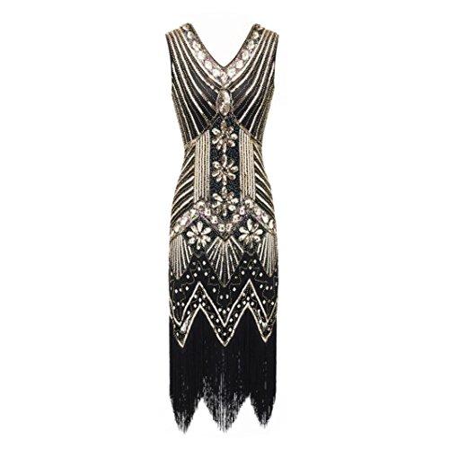 porté pour main au à Noir L dos Women Sac Doré femme DIKEWANG Dress Noir TqI8XH