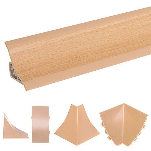 HOLZBRINK Copete de Encimera Haya Embellecedor de Remate PVC Listón de Encimeras 23x23 mm 150 cm: Amazon.es: Bricolaje y herramientas