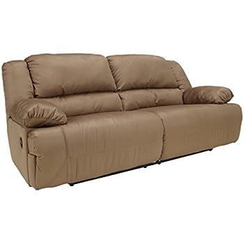 Ashley Furniture Signature Design - Hogan Reclining Sofa - Manual Recliner Couch - Mocha Brown  sc 1 st  Amazon.com & Amazon.com: Ashley Furniture Signature Design - Tafton Reclining ... islam-shia.org