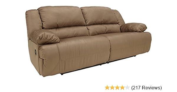 Ashley Furniture Signature Design - Hogan Reclining Sofa - Manual Recliner  Couch - Mocha Brown