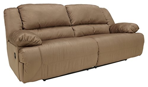 Ashley Furniture Signature Design – Hogan Reclining Sofa – Manual Recliner Couch – Mocha Brown
