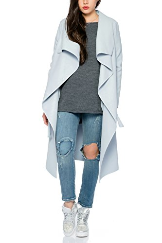 Donna Lang trench Collection Hellblau Kendindza Cappotto ZpwU8Ycq