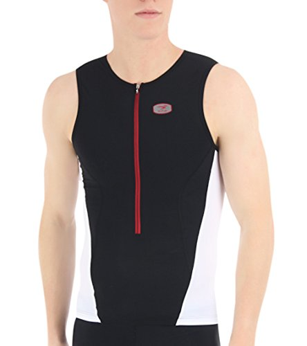 Sugoi Men's RS Tri Tank, Medium, Black/White