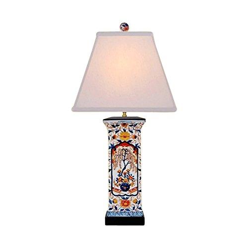 Chinese Porcelain Square Vase Floral Imari Motif Table Lamp 28
