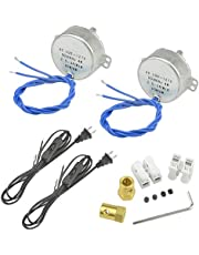 WMYCONGCONG 2 PCS Synchronous Synchron Motor Turntable Motor 50/60Hz AC 100~127V 2.5-3RPM/MIN CCW/CW 4W with 7mm Flexible Coupling Connector and 6ft Power Cord Switch Plug
