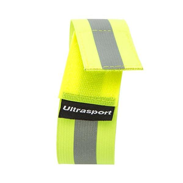 Ultrasport Paquete de 2 Bandas Reflectantes con Velcro: Seguridad en Cualquier Actividad al Aire Libre, Unisex, Amarillo neón, OS 7
