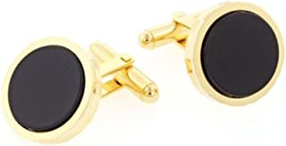 product image for JJ Weston Onyx Cufflinks. Made in The USA.